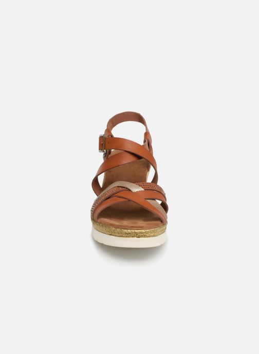 Sandales et nu-pieds Mustang shoes Cleya Marron vue portées chaussures
