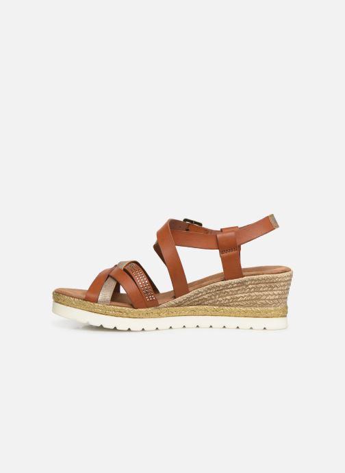 Sandales et nu-pieds Mustang shoes Cleya Marron vue face