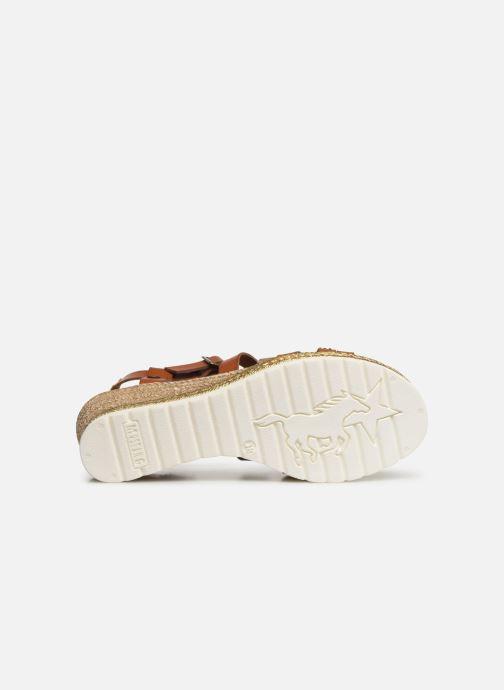 Sandales et nu-pieds Mustang shoes Cleya Marron vue haut