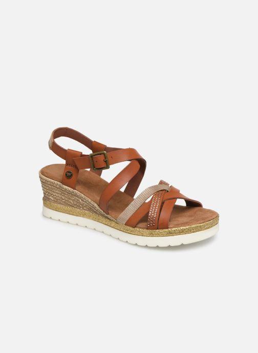 Sandales et nu-pieds Mustang shoes Cleya Marron vue détail/paire