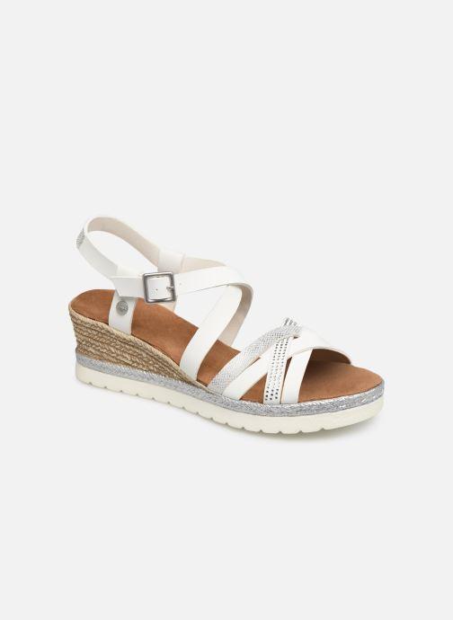 Sandales et nu-pieds Mustang shoes Cleya Blanc vue détail/paire