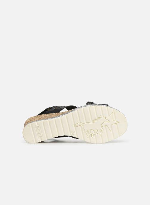 Sandales et nu-pieds Mustang shoes Kalya Noir vue haut