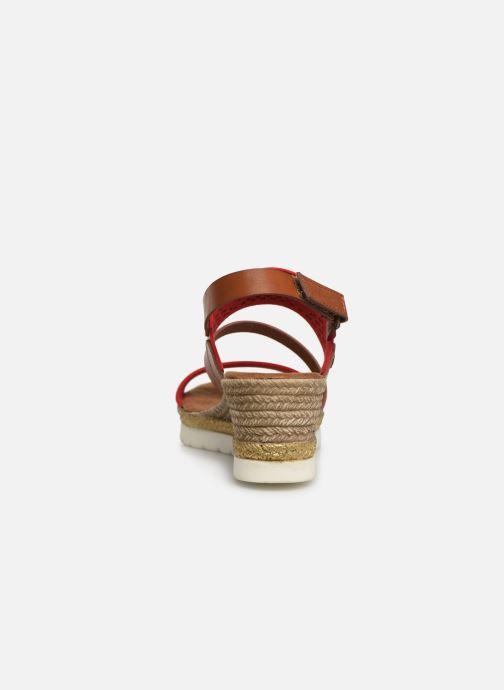 Sandales et nu-pieds Mustang shoes Kalya Rouge vue droite