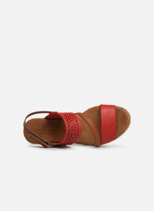 Sandales et nu-pieds Mustang shoes Kalya Rouge vue gauche
