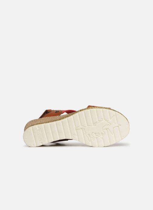 Sandales et nu-pieds Mustang shoes Kalya Rouge vue haut
