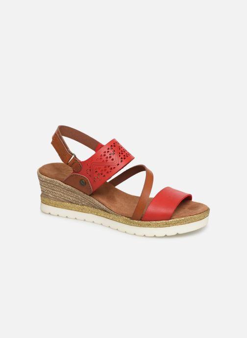 Sandales et nu-pieds Mustang shoes Kalya Rouge vue détail/paire