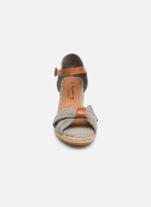 Sandales et nu-pieds Mustang shoes Nahia Gris vue portées chaussures