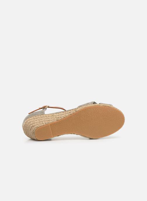 Sandales et nu-pieds Mustang shoes Nahia Gris vue haut