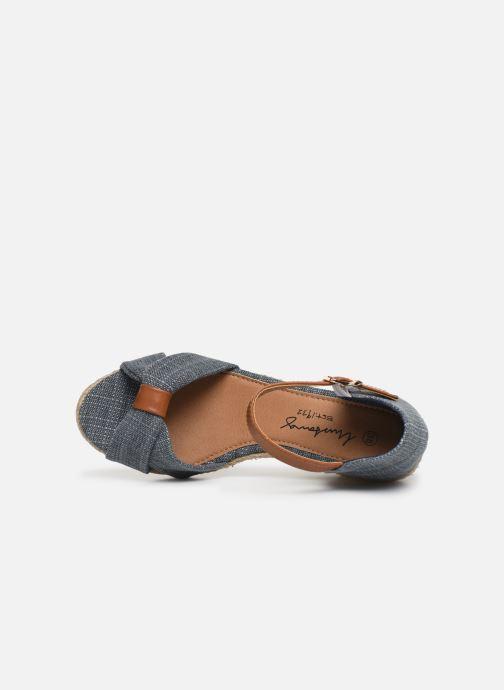 Sandales et nu-pieds Mustang shoes Nahia Bleu vue gauche