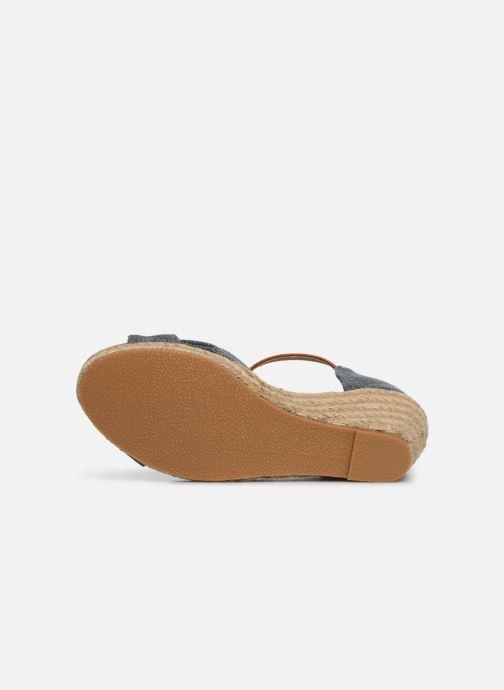 Sandales et nu-pieds Mustang shoes Nahia Bleu vue haut