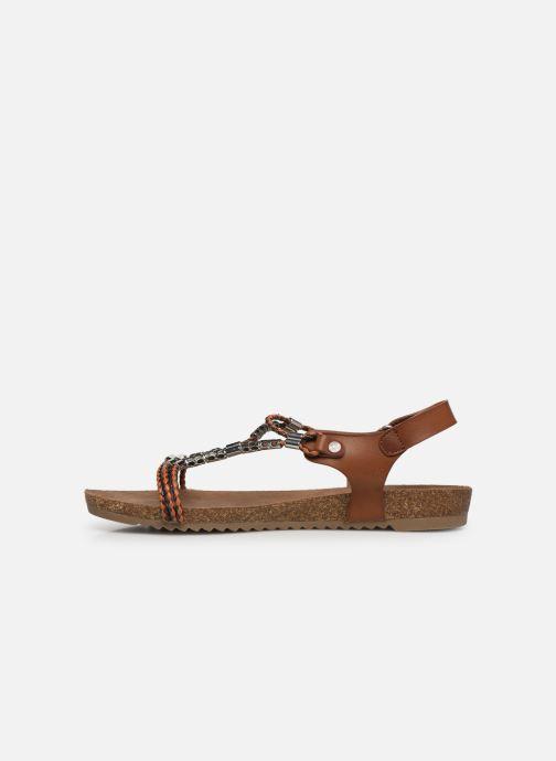 Sandalen Mustang shoes Tylane Bruin voorkant
