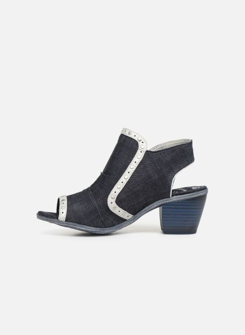 Ankle boots Mustang shoes Ulrika Blue front view