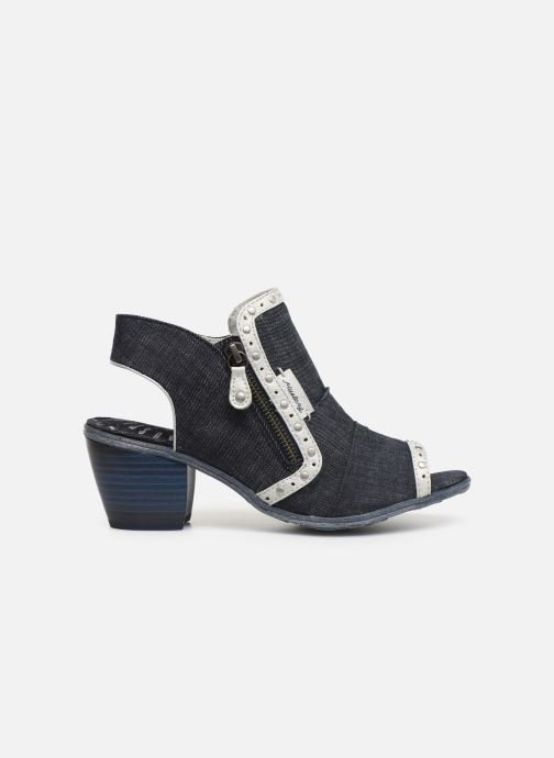 Ankle boots Mustang shoes Ulrika Blue back view