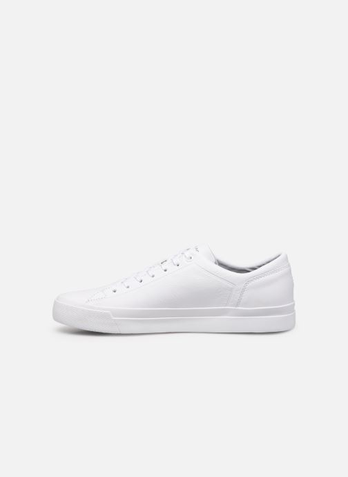 Baskets Tommy Hilfiger CORPORATE LEATHER SNEAKER Blanc vue face