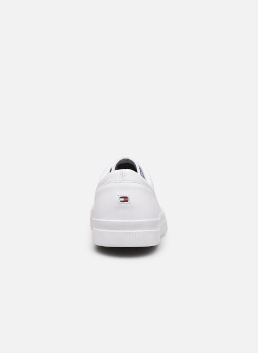 Baskets Tommy Hilfiger CORPORATE LEATHER SNEAKER Blanc vue droite