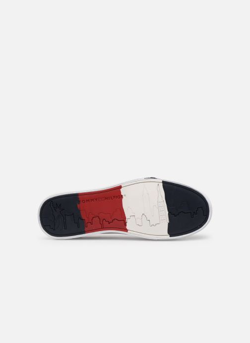 Trainers Tommy Hilfiger CORPORATE LEATHER SNEAKER White view from above