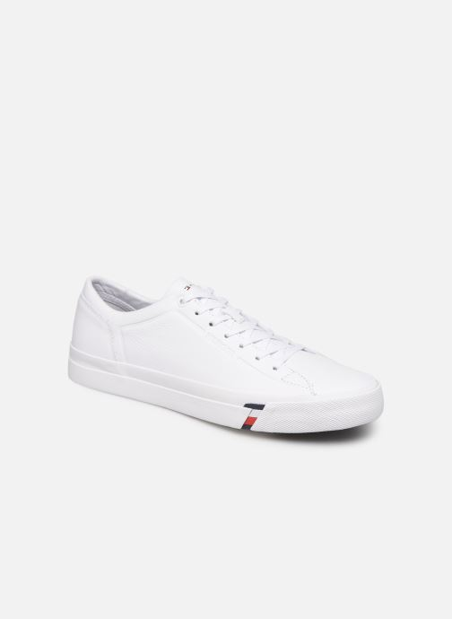 Trainers Tommy Hilfiger CORPORATE LEATHER SNEAKER White detailed view/ Pair view