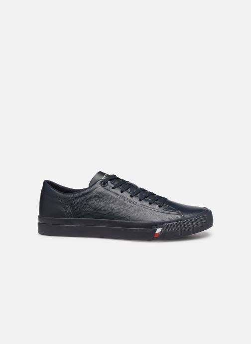 Sneakers Tommy Hilfiger CORPORATE LEATHER SNEAKER Blauw achterkant