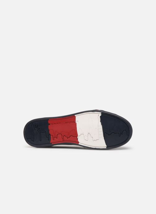 Sneakers Tommy Hilfiger CORPORATE LEATHER SNEAKER Blå se foroven