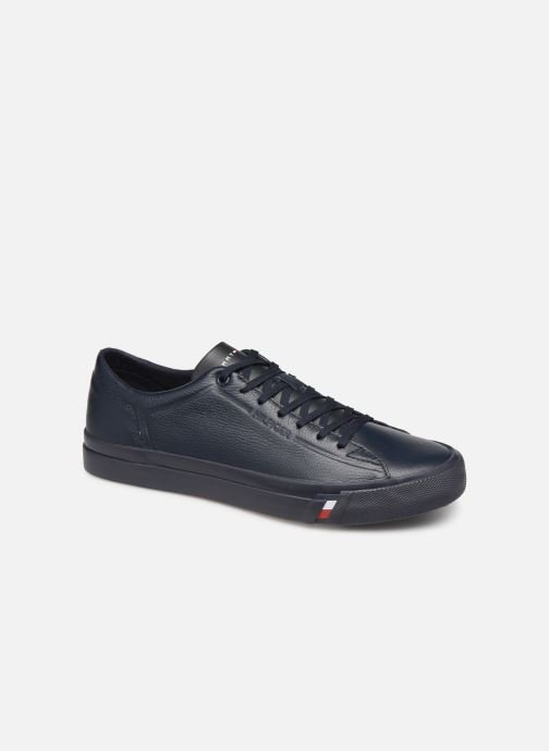 Sneakers Tommy Hilfiger CORPORATE LEATHER SNEAKER Blauw detail