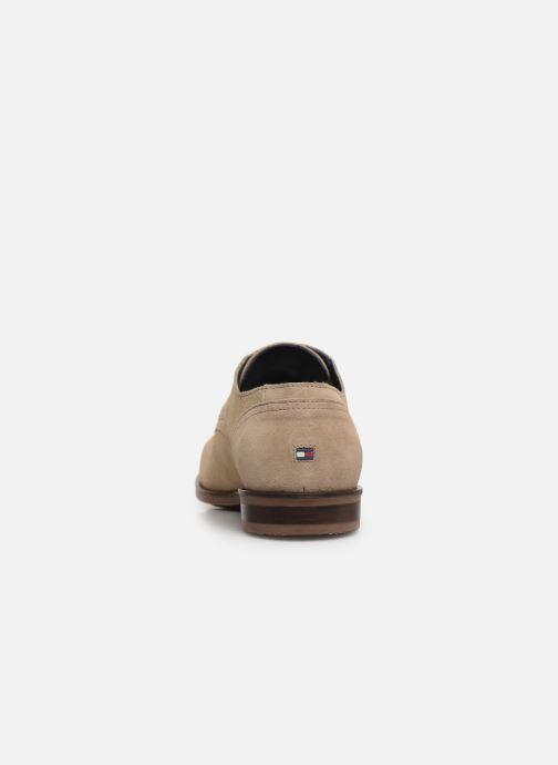 Zapatos con cordones Tommy Hilfiger DRESS CASUAL SUEDE SHOE Beige vista lateral derecha