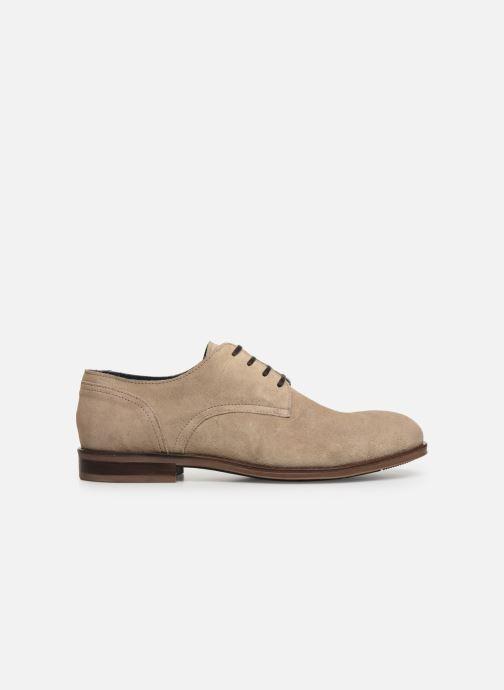 Zapatos con cordones Tommy Hilfiger DRESS CASUAL SUEDE SHOE Beige vistra trasera