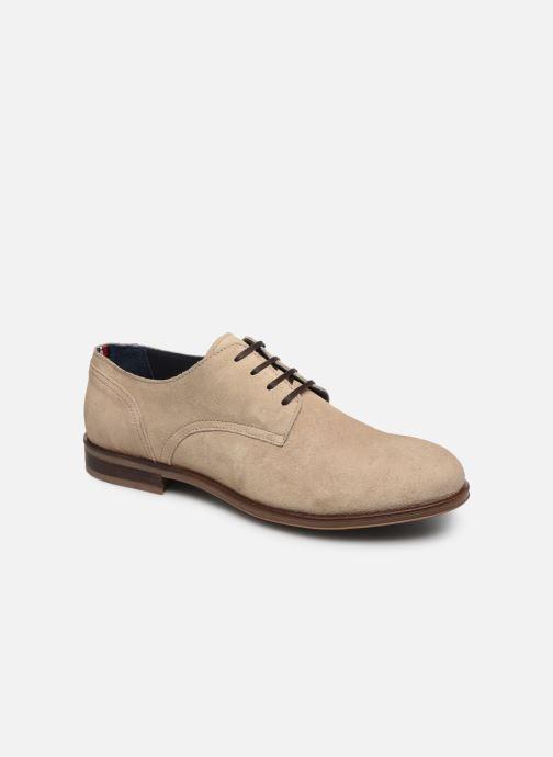 Zapatos con cordones Tommy Hilfiger DRESS CASUAL SUEDE SHOE Beige vista de detalle / par