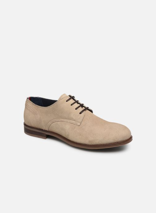 Chaussures à lacets Tommy Hilfiger DRESS CASUAL SUEDE SHOE Beige vue détail/paire