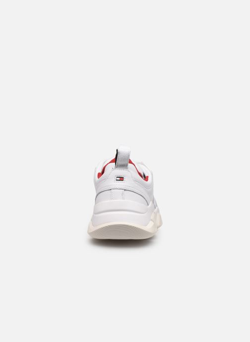 Baskets Tommy Hilfiger CHUNKY LEATHER TRAINER Blanc vue droite