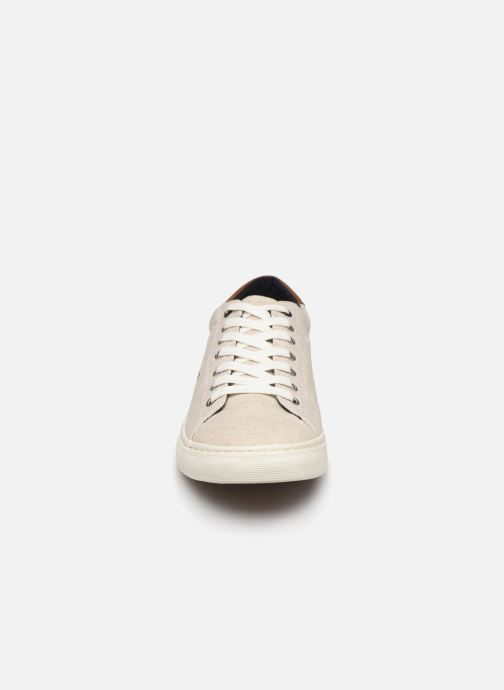Baskets Tommy Hilfiger SEASONAL TEXTILE SNEAKER Blanc vue portées chaussures
