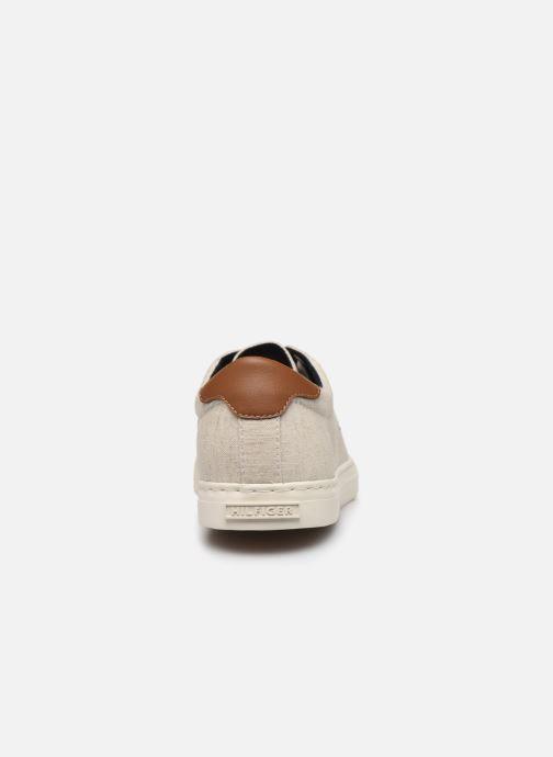Baskets Tommy Hilfiger SEASONAL TEXTILE SNEAKER Blanc vue droite