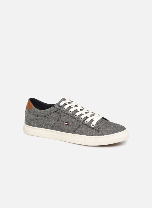 Trainers Tommy Hilfiger SEASONAL TEXTILE SNEAKER Grey detailed view/ Pair view