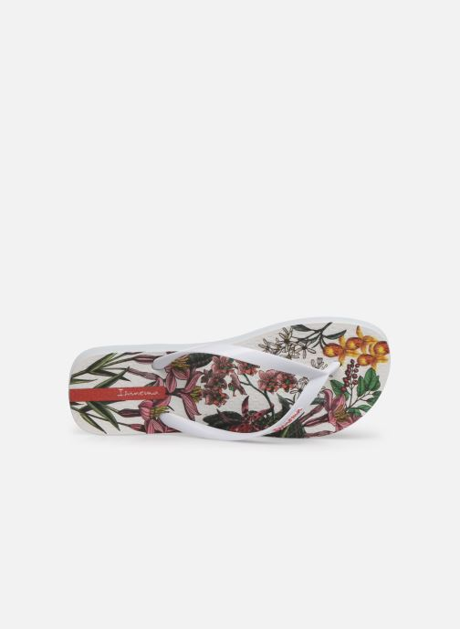 Chanclas Ipanema Botanicals Blanco vista lateral izquierda