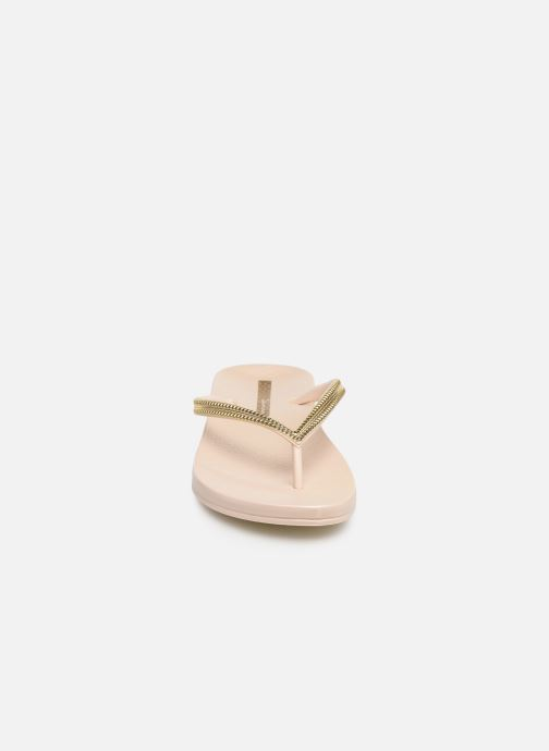 Tongs Ipanema Mesh III Or et bronze vue portées chaussures