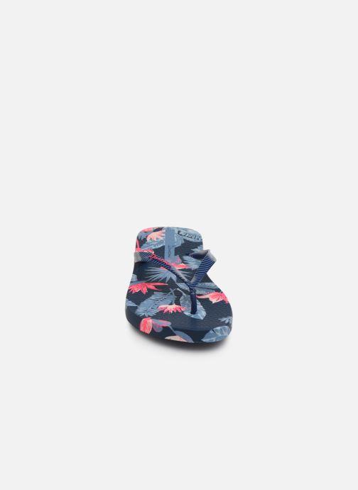 Tongs Ipanema I Love Tropical Bleu vue portées chaussures
