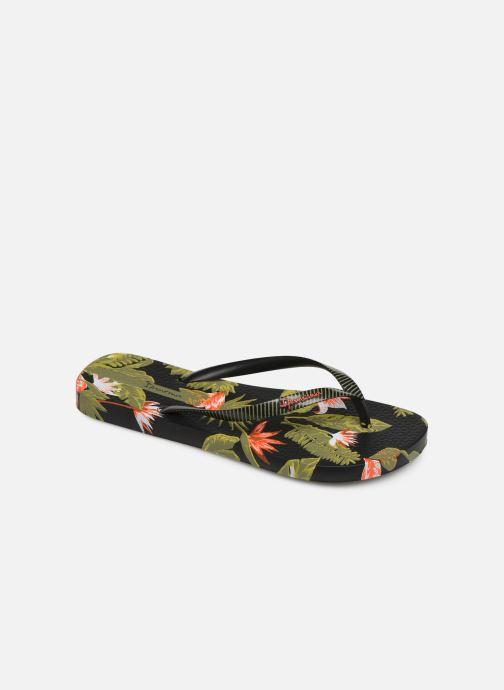 Flip flops Ipanema I Love Tropical Black detailed view/ Pair view