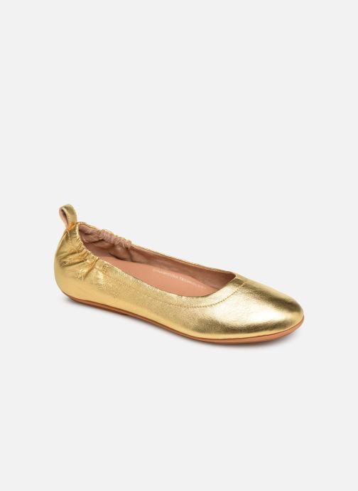 Ballerines FitFlop Allegro Or et bronze vue détail/paire