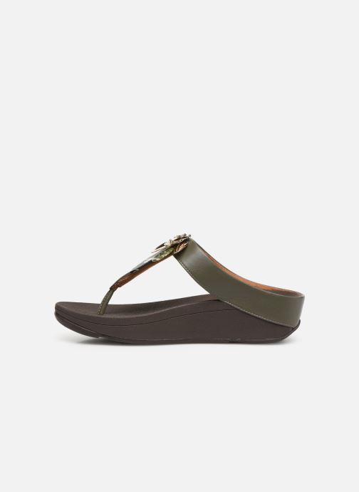Mules et sabots FitFlop Conga Dragon Fly Vert vue face