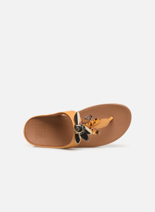 Zuecos FitFlop Conga Dragon Fly Amarillo vista lateral izquierda