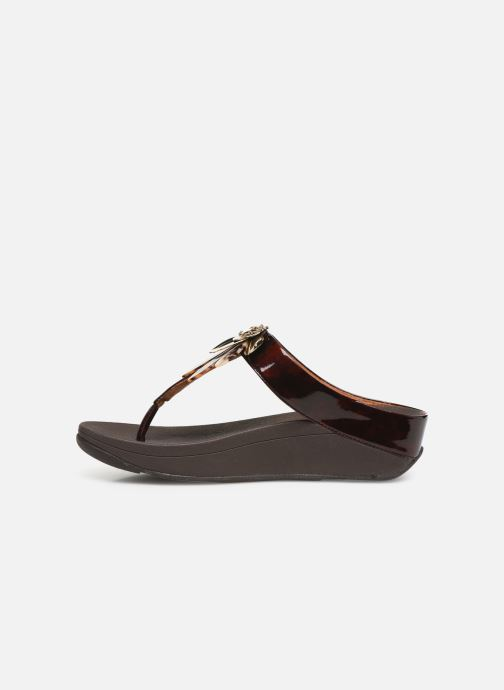 Mules et sabots FitFlop Conga Dragon Fly Marron vue face