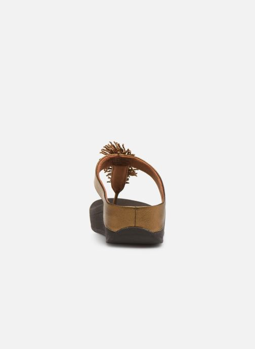 Mules & clogs FitFlop Fino Bead Pompom Bronze and Gold view from the right