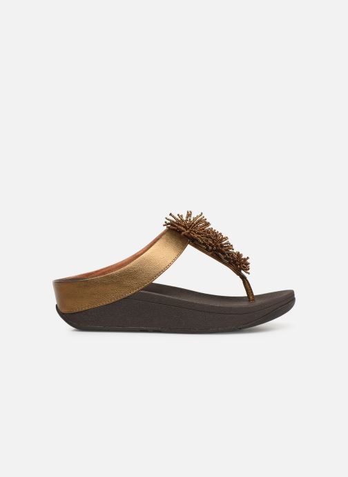 Mules & clogs FitFlop Fino Bead Pompom Bronze and Gold back view