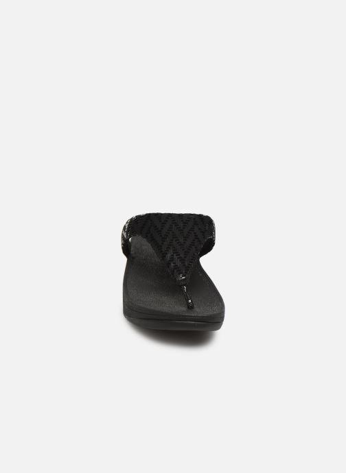 Mules et sabots FitFlop Lottie Chevron Noir vue portées chaussures