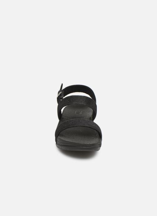 Sandales et nu-pieds FitFlop Lottie Glitzy Backstrap Sandal Noir vue portées chaussures
