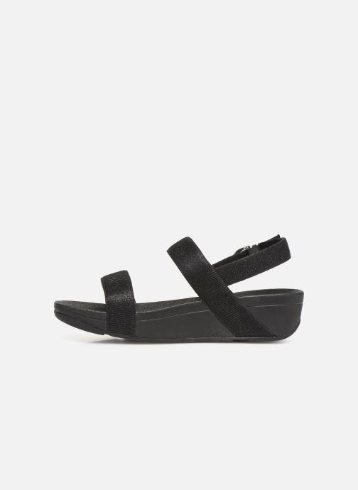 Sandales et nu-pieds FitFlop Lottie Glitzy Backstrap Sandal Noir vue face