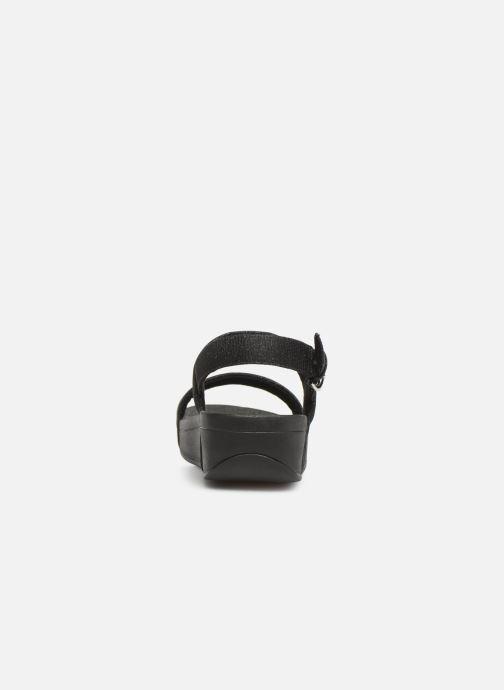 Sandales et nu-pieds FitFlop Lottie Glitzy Backstrap Sandal Noir vue droite
