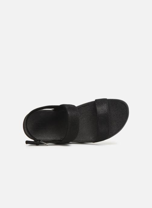 Sandales et nu-pieds FitFlop Lottie Glitzy Backstrap Sandal Noir vue gauche