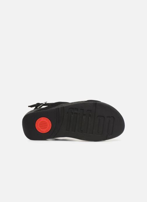 Sandales et nu-pieds FitFlop Lottie Glitzy Backstrap Sandal Noir vue haut
