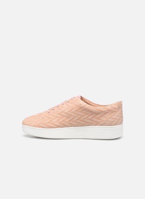 Baskets FitFlop Rally Chevron Rose vue face