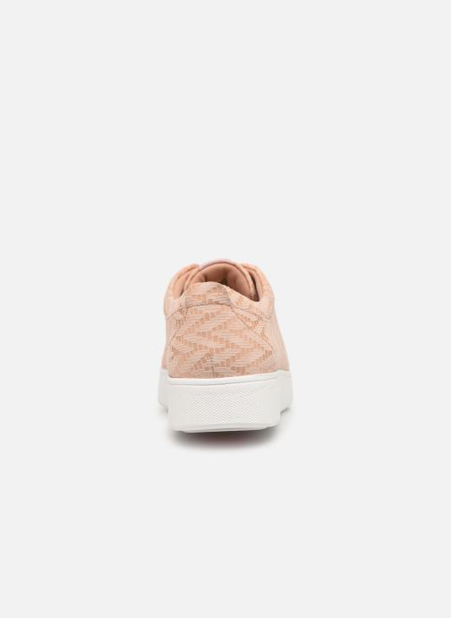 Baskets FitFlop Rally Chevron Rose vue droite
